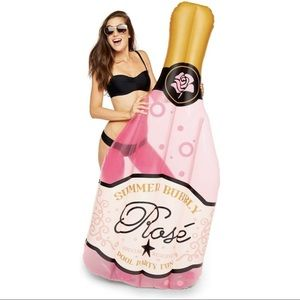 Giant Rosé Pink Champagne Inflatable Pool Float
